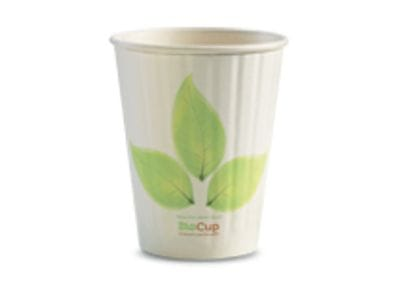 390ml/12oz(90mm) Leaf Double Wall Biocup