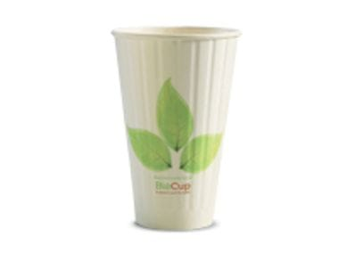460ml/16oz(90mm) Leaf Double Wall Biocup