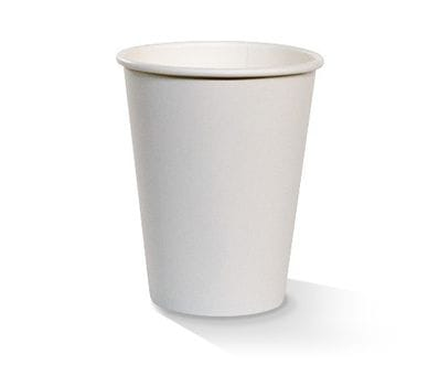 12 oz White single wall Hot Cup