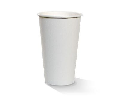 16oz Single wall Hot Cup White