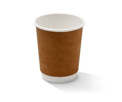 8 oz Double Wall Hot Cup Kraft