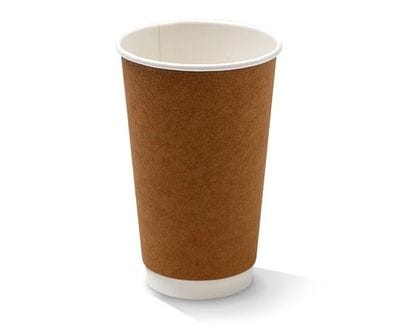 16 oz Double Wall Kraft Hot Cup