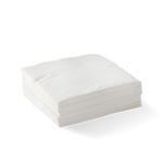 2 Ply Corner Embossed Cocktail Napkin White