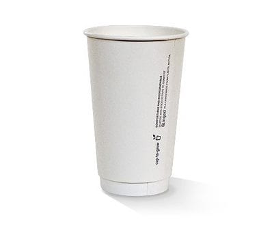 16oz Double wall White PLA lined Hot Cup