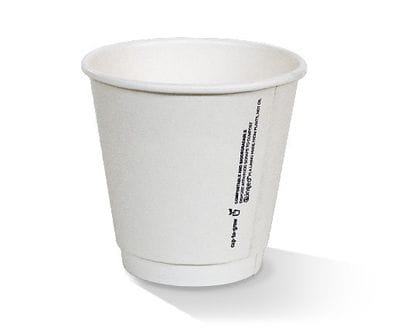 8oz(90) White Double Wall PLA lined hot cup