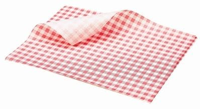 GINGHAM 35GSM RED/WHITE 190X300