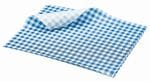 Gingham 35gsm blue/white 190x300