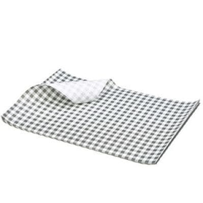 Gingham 35gsm 190x150 Black/White