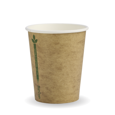 280ml/8oz(80mm) Kraft Green Line Single Wall Biocup