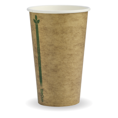 350ml/12oz(80mm) kraft Green Line Single Wall Biocup