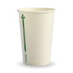 320ml/10oz(80mm) White green line Single Wall Biocup