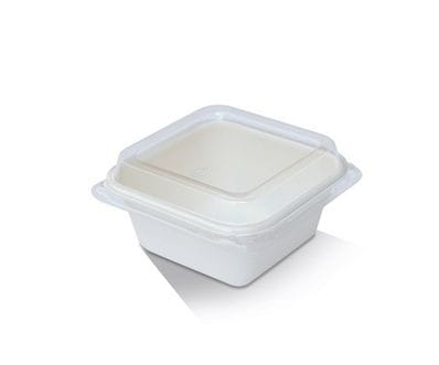 7oz PET Lid/ Sugarcane Tray