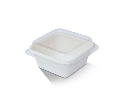 PET lid/Sugarcane Tray 7oz 99x99x18mm