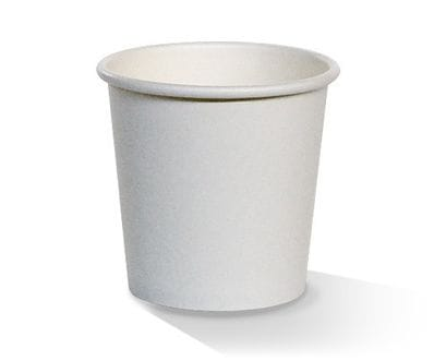 4oz single wall white PE lined hot cups