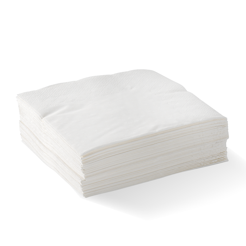 Thumbnail 1 Ply 1/4 Fold White Lunch Bionapkin
