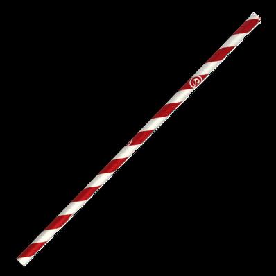 6mm Regular Red Stripe Biostraw