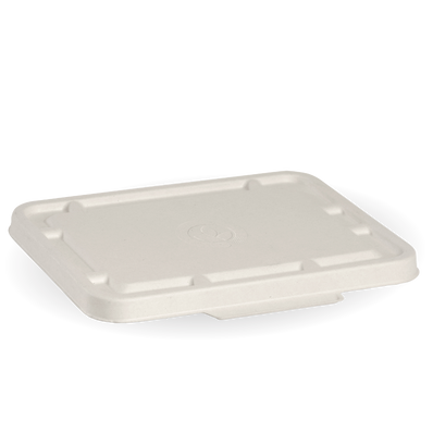 2&3 Compartment White Biocane Takeaway Lid