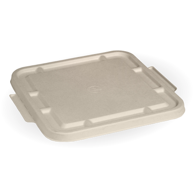 3 Compartment Natural Large Biocane Takeaway Lid