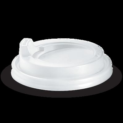 90mm White Sipper Lid Fits 8oz uni-lid,12,16,20oz Cups.