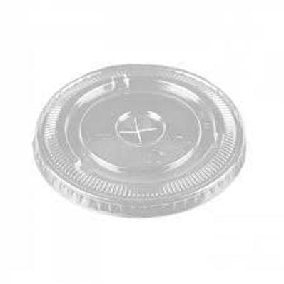 8-10oz PET Clear Flat LId Straw Slot