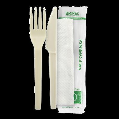 """15cm / 6"""" PSM Knife,Fork,Napkin Set"""