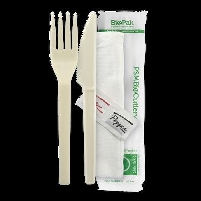 """15cm /6"""" PSM Knife,Fork,Napkin,Salt & Pepper Set"""