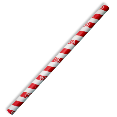 10mm Jumbo Red Stripe Biostraw.