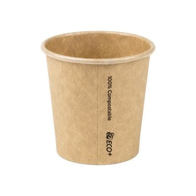4oz PLA Raw Single Wall Hot Cup