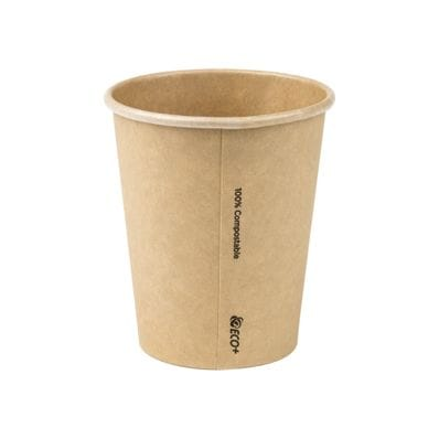 8oz PLA Raw Single Wall Hot Cup