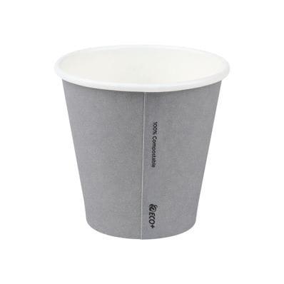 8oz(90mm)  PLA Grey Single Wall Hot Cup.