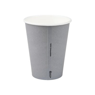 12oz PLA Grey Single Wall Hot Cup