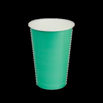 16oz Aqua Paper Cold Cup.