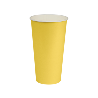 22oz Yellow Paper Cold Cup