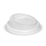80mm White PLA lid Fits 6 & 8oz Cups and 12 Green Line