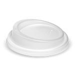 90mm white PLA Lid Fits 8oz uni-lid, 12, 16 & 20oz Cups