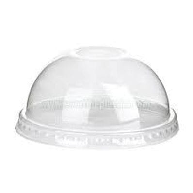 12oz PET Clear Dome Lid With Hole