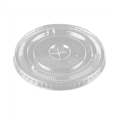 CLEAR PET FLAT LID WITH SLOT TO SUIT 12 OZ CUPS