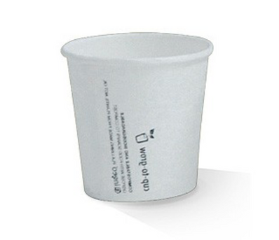 4oz PLA White Lined Single Wall Cup