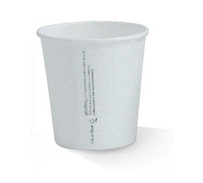 6oz PLA Lined White Single Wall Cup