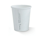 8oz PLA Lined Single Wall White Cup