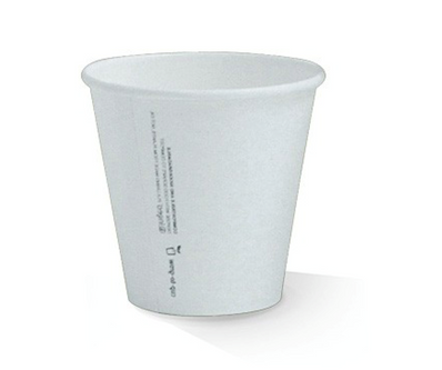 8oz(90mm) PLA Lined Single Wall White Cup