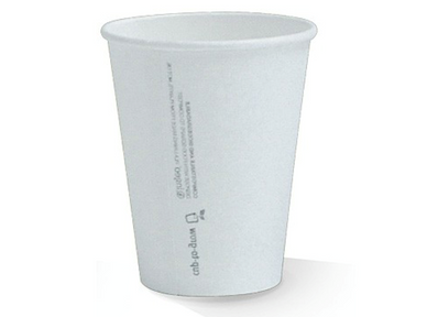 12oz PLA Lined Single Wall White Cup