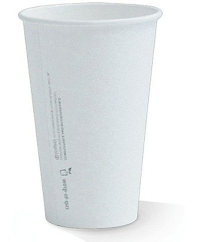 20oz PLA Lined Single Wall White Cup.