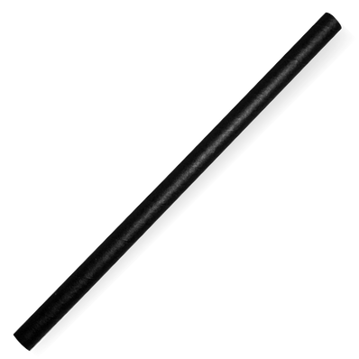 10mm Jumbo Black Biostraw