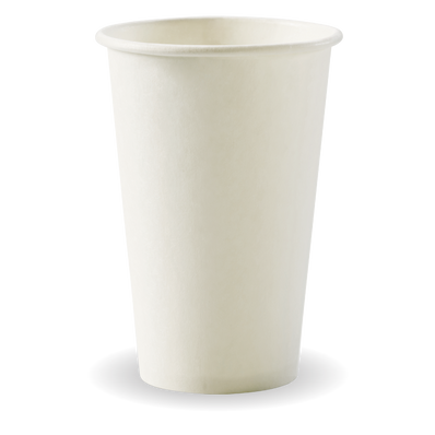 350ml/12oz(80mm) White Single Wall Biocup