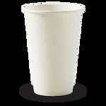 350ml/12oz(80mm) White Single Wall Biocup