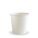 120ml/4oz(63mm) White Single Wall Biocup