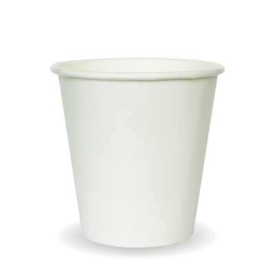 230ml/6oz(80mm) White Single Wall Biocup