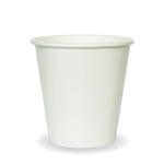 230ml/6oz(80mm) White Single Wall Biocup