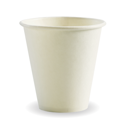 280ml/8oz(90mm) White Single Wall Biocup